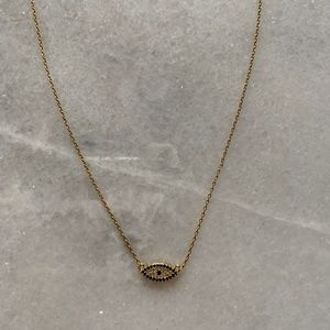 - Jewelry - Gold Plated Evil Eye Pendant Necklace
